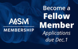 AASM Fellow application